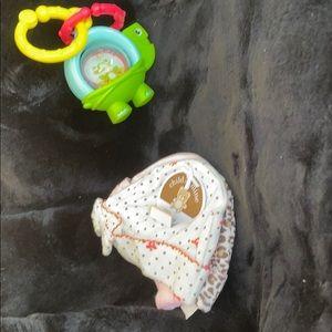 NWT Carter's COM Caps Hats Pink Leopard Polka Dots